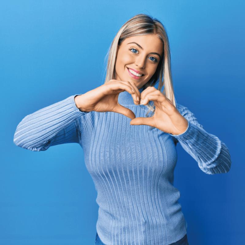 shape angel frau blau herz nahrungsergänzungsmittel bio vegan hochdosiert hergestellt in deutschland made in germany zuckerfrei glutenfrei laktosefrei gmofrei kapseln für frauen gesundheit woman