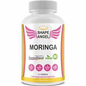 Nahrungsergänzungsmittel für Frauen shape angel moringa moringablattpulver bio vegan freie radikale schützt immunsystem durchblutung stoffwechsel anregen zähne knochen blutdruck unterernährung 1
