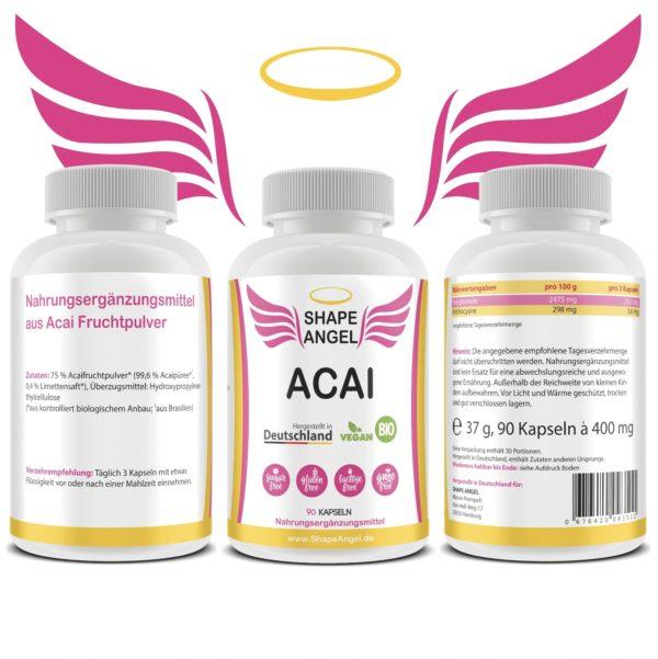 für frauen polyphenole acay berry acaione wirkung hochdosiert abnehmen nahrungsergänzung beeren-kapseln acaiberry ernährungsergänzung fruchtpulver anti aging acai-pulver bio