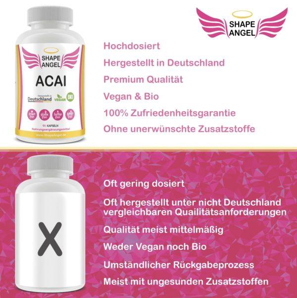 für frauen polyphenole acay berry acaione wirkung hochdosiert fruchtpulver anti aging acai-pulver bio